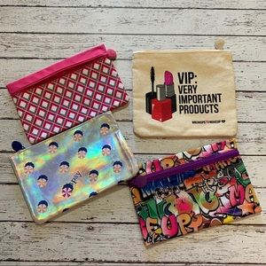 Set of 4 makeup cosmetic bags 💄 Ipsy